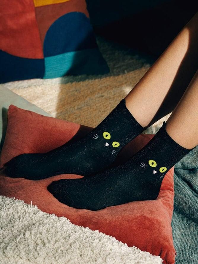 Cat Socks Black Mood photo